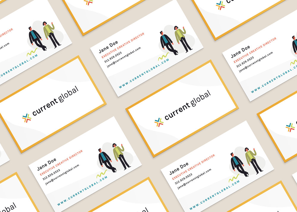 Current Global Business Card Design by Janessa Rae Design Creative