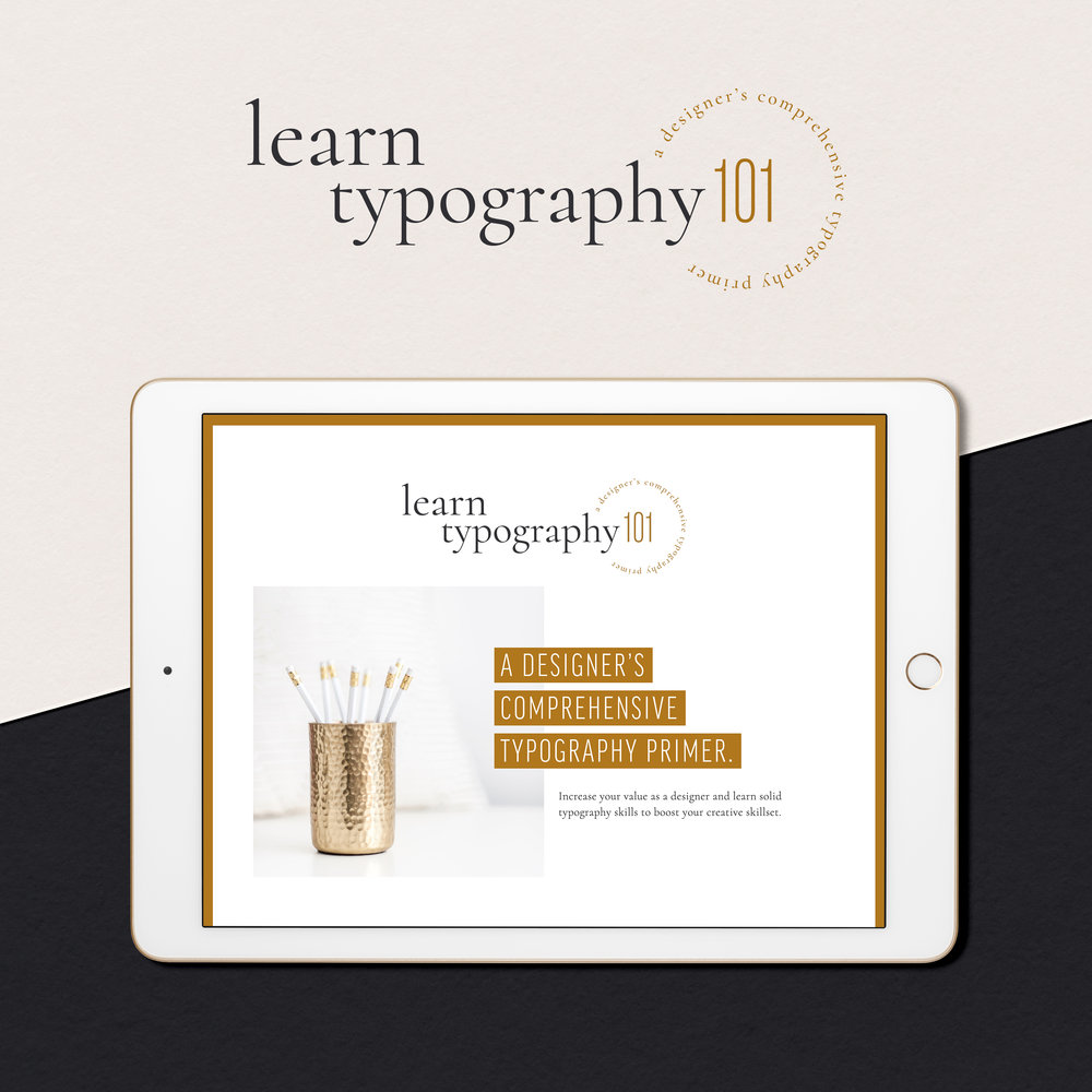Learn Typography 101 — Squarespace Sales Page Design Preview by Janessa Rae Design Creative