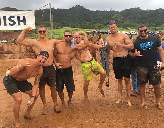 Some of our favorite athletes from one of our top affiliates @crossfitpineville finishing and supporting another great cause @ultimatehawaiiantrailrun. Congrats!!! We also love seeing amrap support @tpstutts!! #giveback #community #crossfit