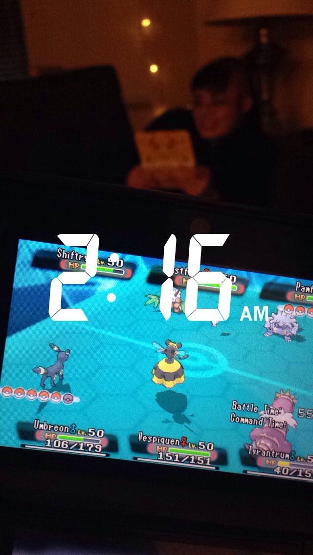 Yes, that is me and my apartment-mate playing Pokemon at 2AM.