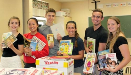 CR South Honor Society members 'Bring on the Books' to underprivileged students October 13, 2014
