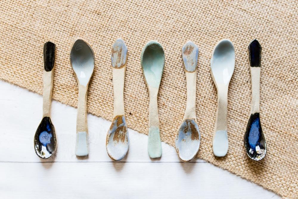 Handmade Ceramic Spoons