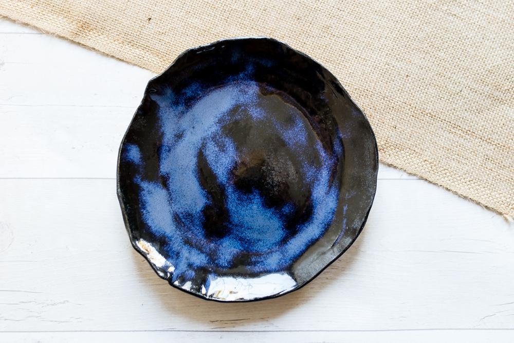 Stormy Seas Stoneware Dinner Plate