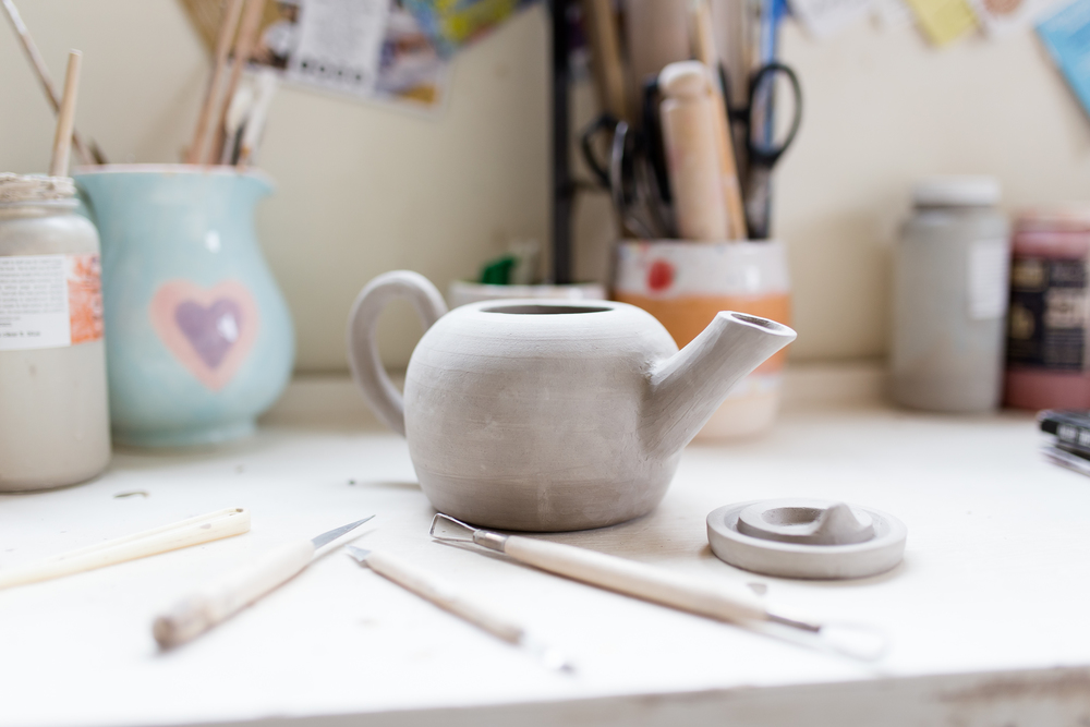 Teapot in progress