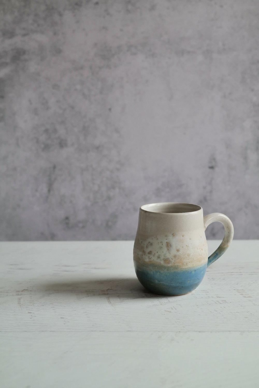 'At the Beach' stoneware mug