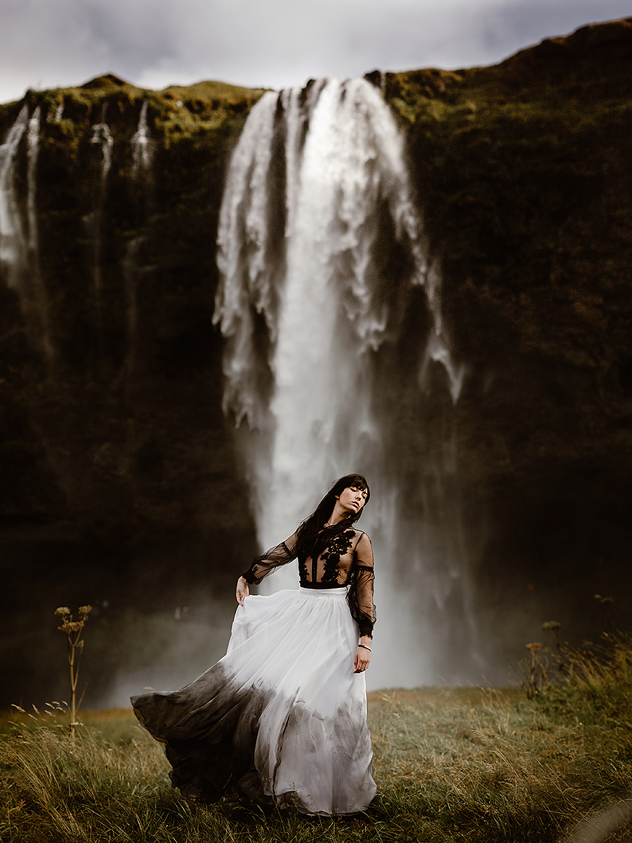 Iceland Wedding Elopement Photography Eloping Bride Bridal Destination Intimate Waterfall icelandic european seljalandsfoss skogafoss reykjavik Liz Osban Photography Same Sex Engagement Photographer Couples Session Love.jpg