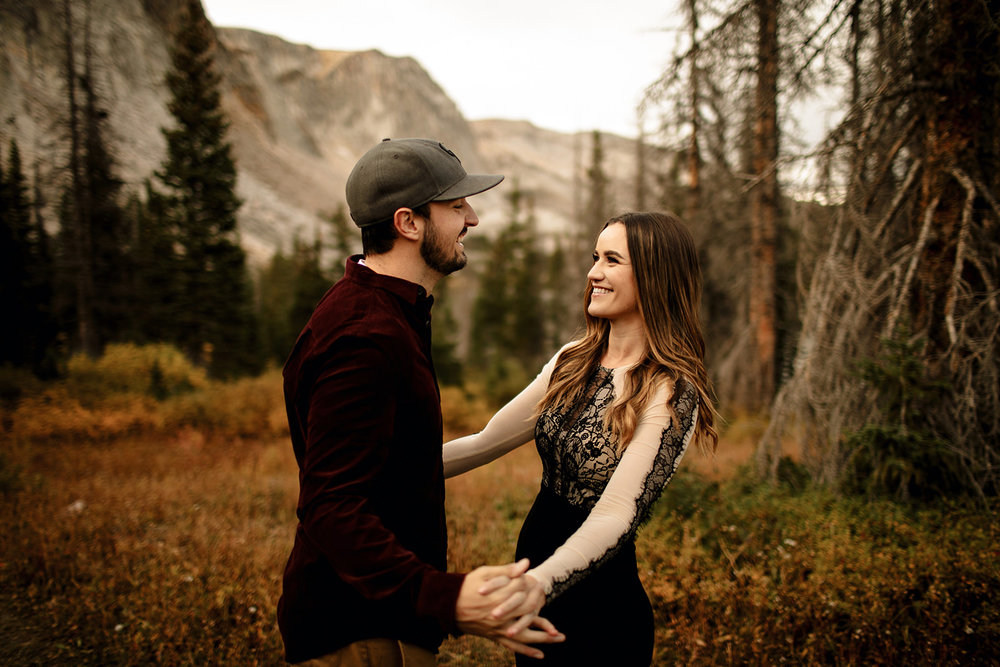 Liz Osban Photography Engagement Wedding Love Couples Engaged Wyoming Colorado Northern Cheyenne Romantic Rocky Mountain Bride