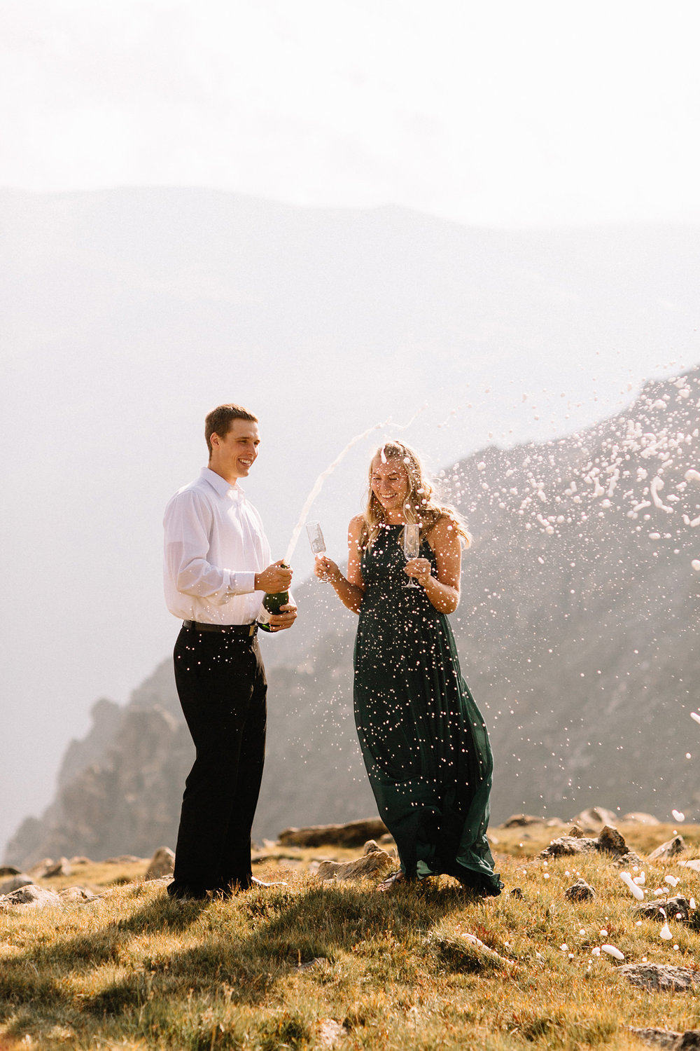 Rocky Mountain Engagement National Park Engaged Photos Wedding Elopement Portrait Mountains Trail Ridge Rd Peak Alpine Dress Lulus Rules Permit Photo Adventure Love Couples Destination Liz Osban photography Cheyenne Wyoming1.jpg