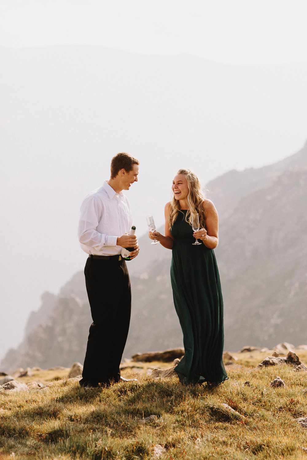 Rocky Mountain Engagement National Park Engaged Photos Wedding Elopement Portrait Mountains Trail Ridge Rd Peak Alpine Dress Lulus Rules Permit Photo Adventure Love Couples Destination Liz Osban photography Cheyenne Wyoming2.jpg