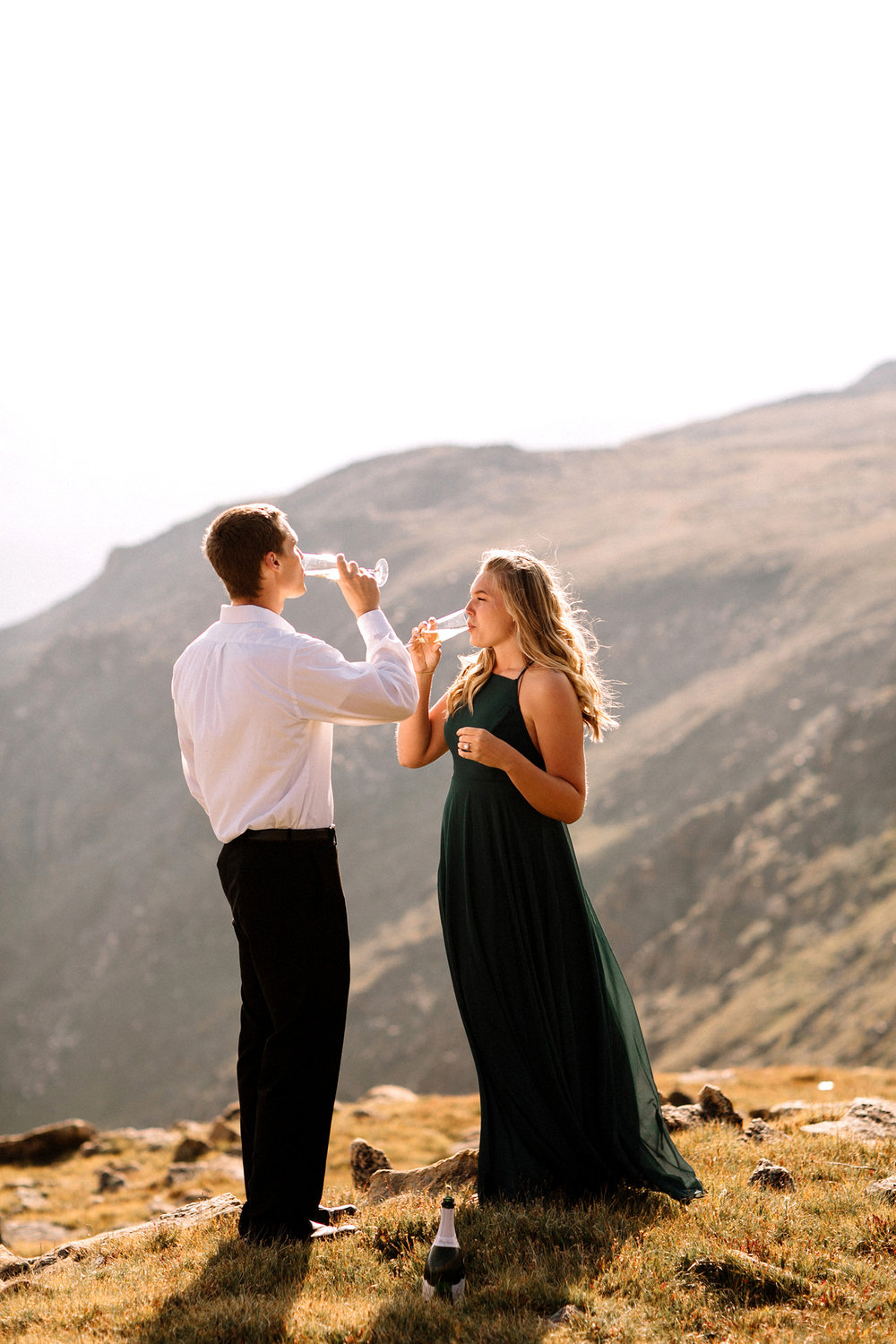 Rocky Mountain Engagement National Park Engaged Photos Wedding Elopement Portrait Mountains Trail Ridge Rd Peak Alpine Dress Lulus Rules Permit Photo Adventure Love Couples Destination Liz Osban photography Cheyenne Wyoming4.jpg