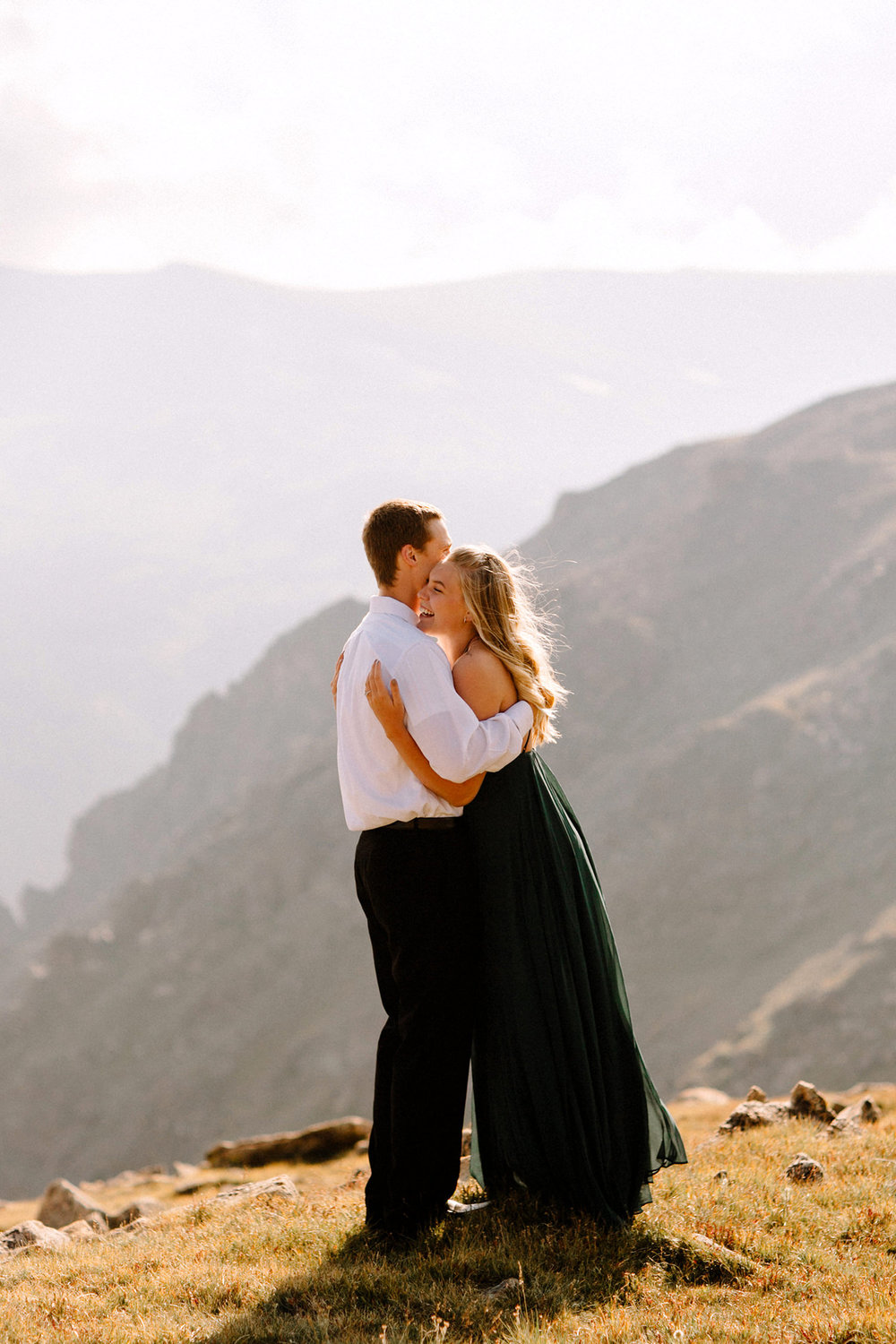 Rocky Mountain Engagement National Park Engaged Photos Wedding Elopement Portrait Mountains Trail Ridge Rd Peak Alpine Dress Lulus Rules Permit Photo Adventure Love Couples Destination Liz Osban photography Cheyenne Wyoming6.jpg