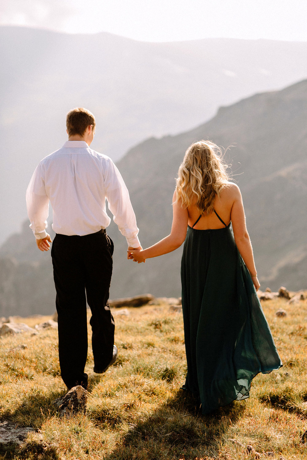 Rocky Mountain Engagement National Park Engaged Photos Wedding Elopement Portrait Mountains Trail Ridge Rd Peak Alpine Dress Lulus Rules Permit Photo Adventure Love Couples Destination Liz Osban photography Cheyenne Wyoming5.jpg