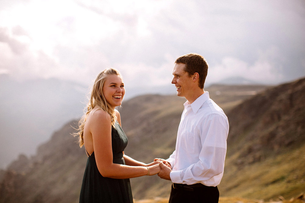 Rocky Mountain Engagement National Park Engaged Photos Wedding Elopement Portrait Mountains Trail Ridge Rd Peak Alpine Dress Lulus Rules Permit Photo Adventure Love Couples Destination Liz Osban photography Cheyenne Wyoming9.jpg