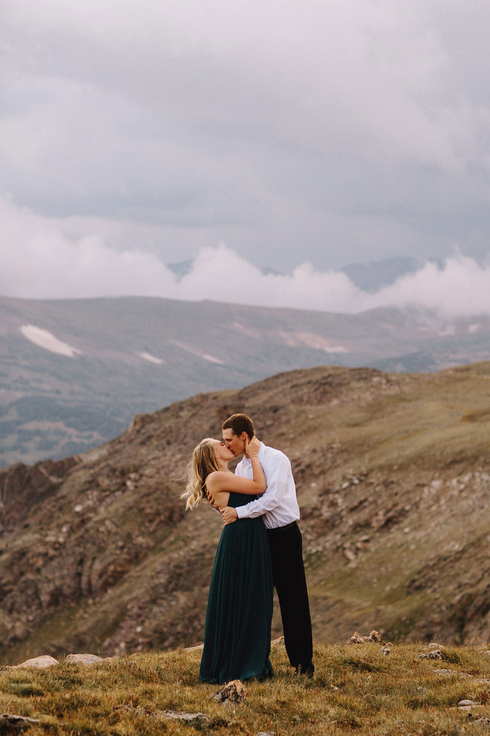 Rocky Mountain Engagement National Park Engaged Photos Wedding Elopement Portrait Mountains Trail Ridge Rd Peak Alpine Dress Lulus Rules Permit Photo Adventure Love Couples Destination Liz Osban photography Cheyenne Wyoming11.jpg
