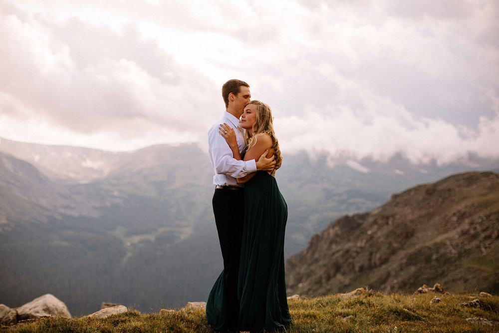 Rocky Mountain Engagement National Park Engaged Photos Wedding Elopement Portrait Mountains Trail Ridge Rd Peak Alpine Dress Lulus Rules Permit Photo Adventure Love Couples Destination Liz Osban photography Cheyenne Wyoming12.jpg