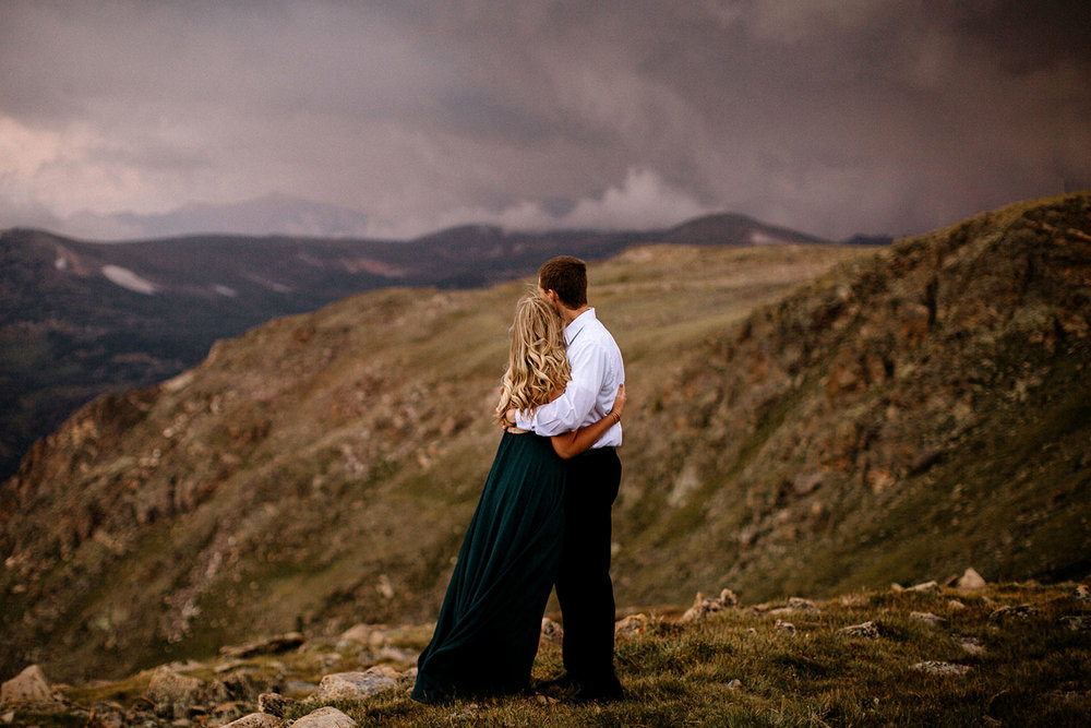Rocky Mountain Engagement National Park Engaged Photos Wedding Elopement Portrait Mountains Trail Ridge Rd Peak Alpine Dress Lulus Rules Permit Photo Adventure Love Couples Destination Liz Osban photography Cheyenne Wyoming18.jpg