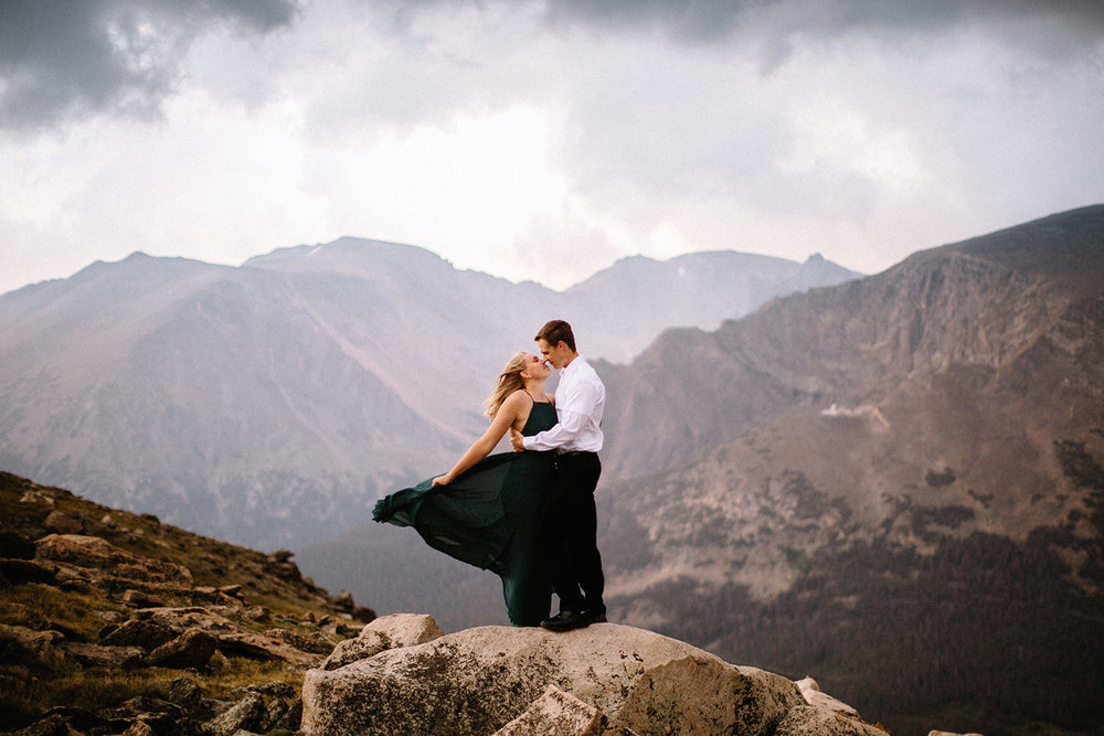 Rocky Mountain Engagement National Park Engaged Photos Wedding Elopement Portrait Mountains Trail Ridge Rd Peak Alpine Dress Lulus Rules Permit Photo Adventure Love Couples Destination Liz Osban photography Cheyenne Wyoming21.jpg