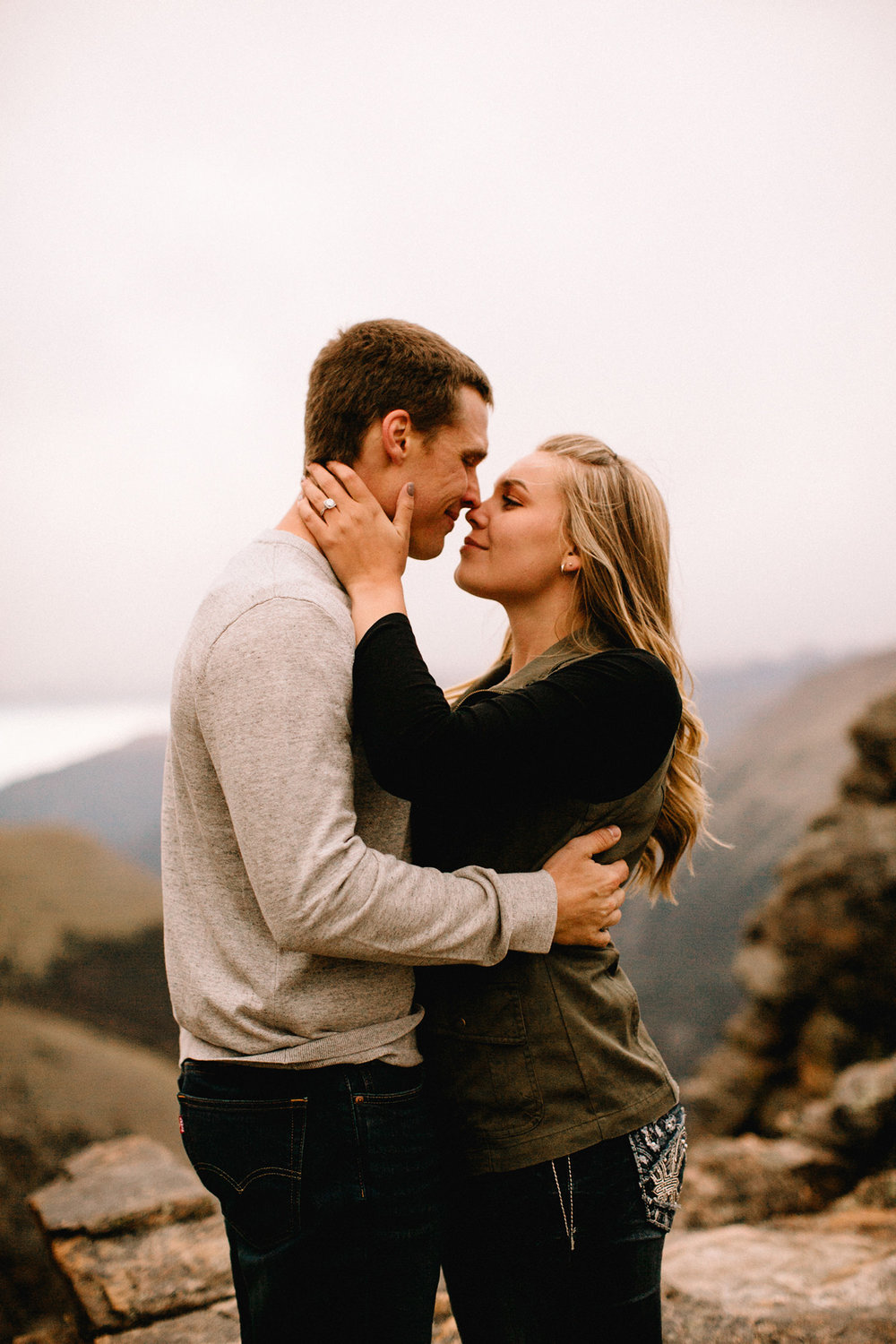Rocky Mountain Engagement National Park Engaged Photos Wedding Elopement Portrait Mountains Trail Ridge Rd Peak Alpine Dress Lulus Rules Permit Photo Adventure Love Couples Destination Liz Osban photography Cheyenne Wyoming34.jpg
