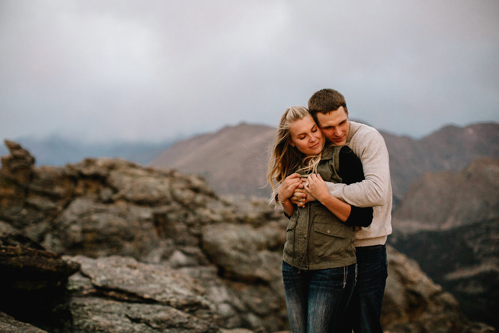 Rocky Mountain Engagement National Park Engaged Photos Wedding Elopement Portrait Mountains Trail Ridge Rd Peak Alpine Dress Lulus Rules Permit Photo Adventure Love Couples Destination Liz Osban photography Cheyenne Wyoming48.jpg