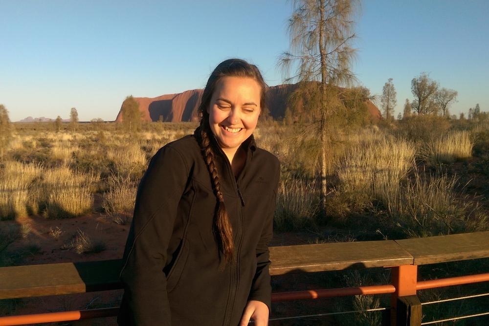 This photo was taken at sunrise near Uluru on the morning we had communion, September 2015
