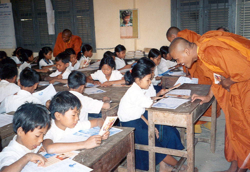 """- Dhammayietra SupportSeptember 2015 – December 2016January 2017 – December 2017January 2018 – December 2018In 1992, the venerable Maha Ghosananda, a Buddhist monk living in a refugee camp on the Thai-Cambodian border, organised a """"Walk for Peace"""" which became an annual event from 1999 onwards. The walk passes through different rural areas of Cambodia and attracts over 100 participants comprised of Buddhist monks, nuns and laypeople from across Cambodia and abroad. The walk incorporates education to villagers and in schools on living in harmony with people and the environment. Ms Oddom Vansyvorn, a lay disciple of the late Maha, has participated in every walk and now organises them voluntarily each year. During the remainder of the year Syvorn organises monks and nuns to provide non-violence training to prisoners in Cambodia's jails. The Broadley Trust is providing financial support to allow Syvorn to continue her work, including the writing of an autobiography."""