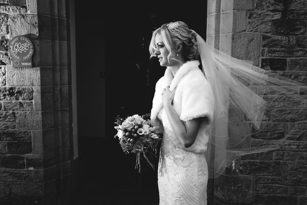 This is Kayleigh just after the wedding ceremony @  Bryn Garw House  i just loved that for a split second I managed to get this, she looked amazing and I just couldn't get enough of it. This is one of my favourite photographs from the day. Before I would have shown off a more light and 'fluffy image' one that's more stereotypical of playing it safe but this is 100% what I want to do now.