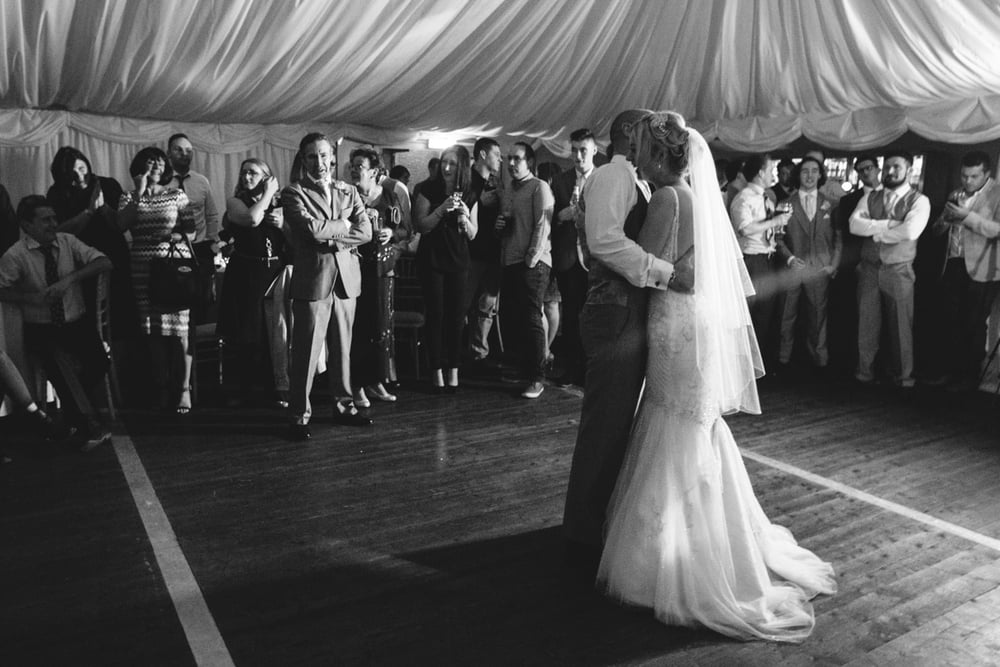 That special moment before all the friends run in to have a dance with the couple, I love it.