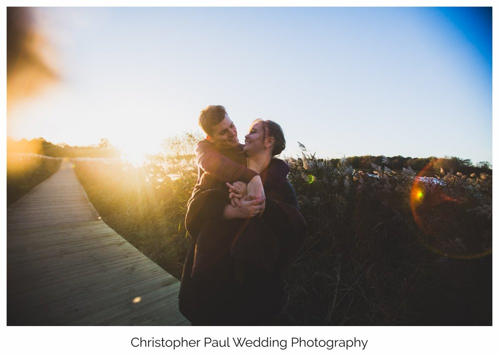 Millie and Tristan look awesome together in the beautiful golden light in Penarth. I love shooting engagement photography
