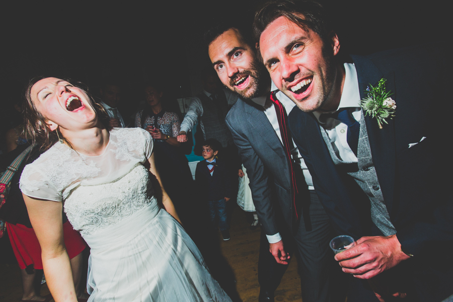 Everyone is drinking and partying at the alternative wedding in cornwall