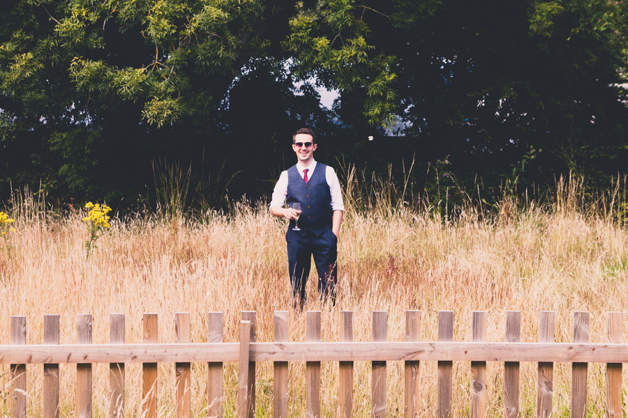 A groom preparing for an alternative Devon Wedding