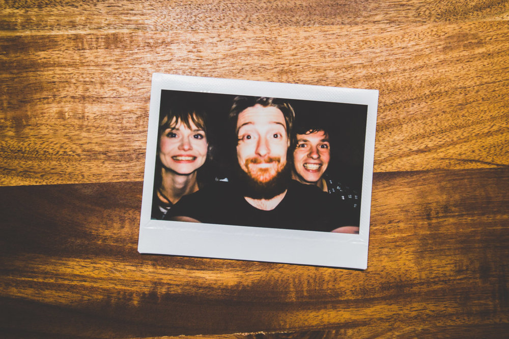 A fun polaroid of Emma Jonnie and myself after the engagement shoot.