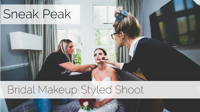 The make up and Hair team from today's styled shoot at  Bryn Garw House
