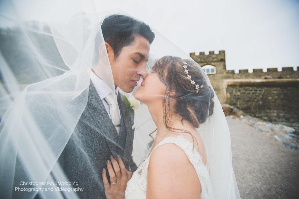 Everybody loves a cwtch under a bridal veil