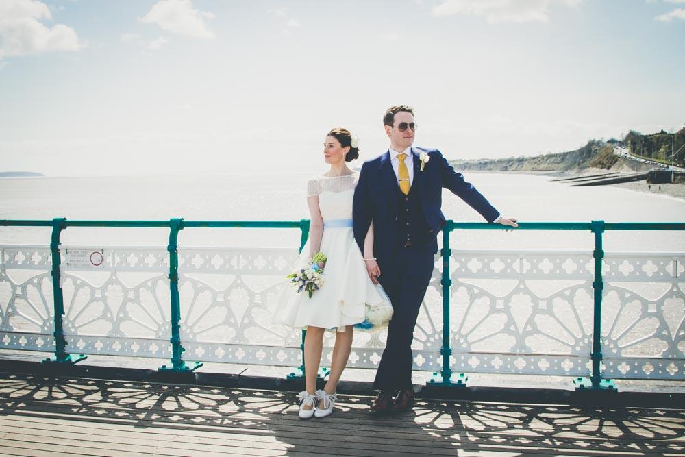 South Wales Wedding Venues | Penarth Pier wedding photography