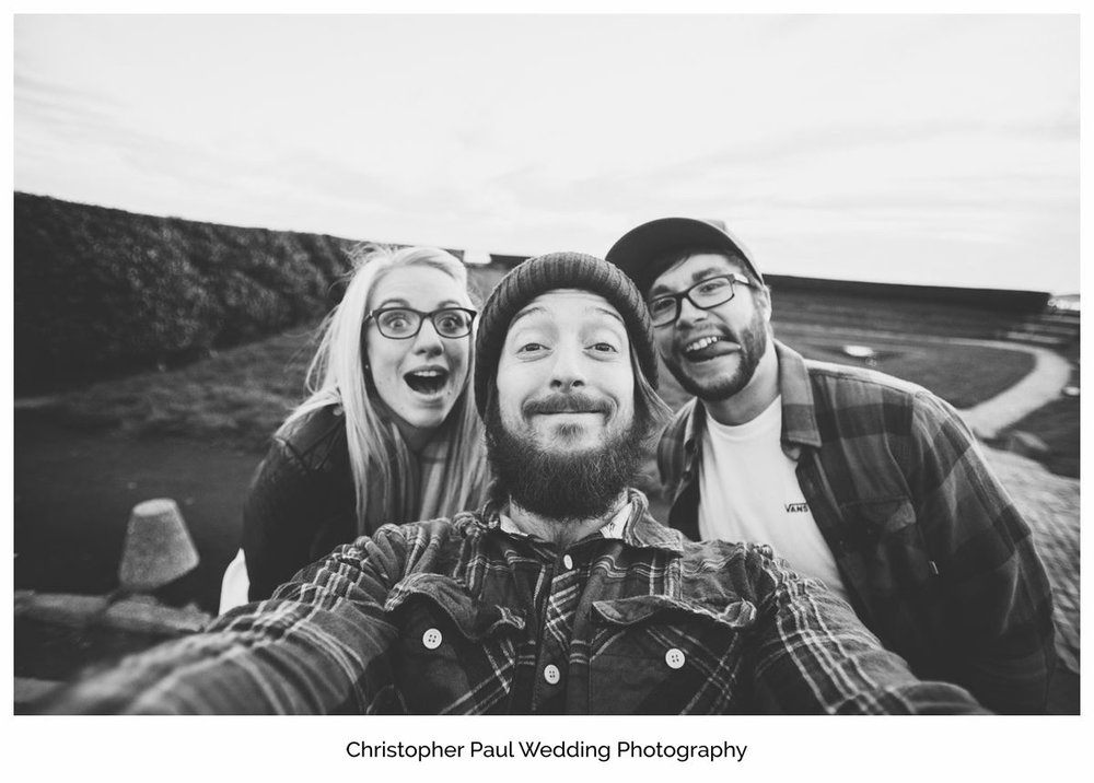 Here's a selfie with Chloe and Damien after their engagement shoot. I offer them for free with all my wedding photography packages