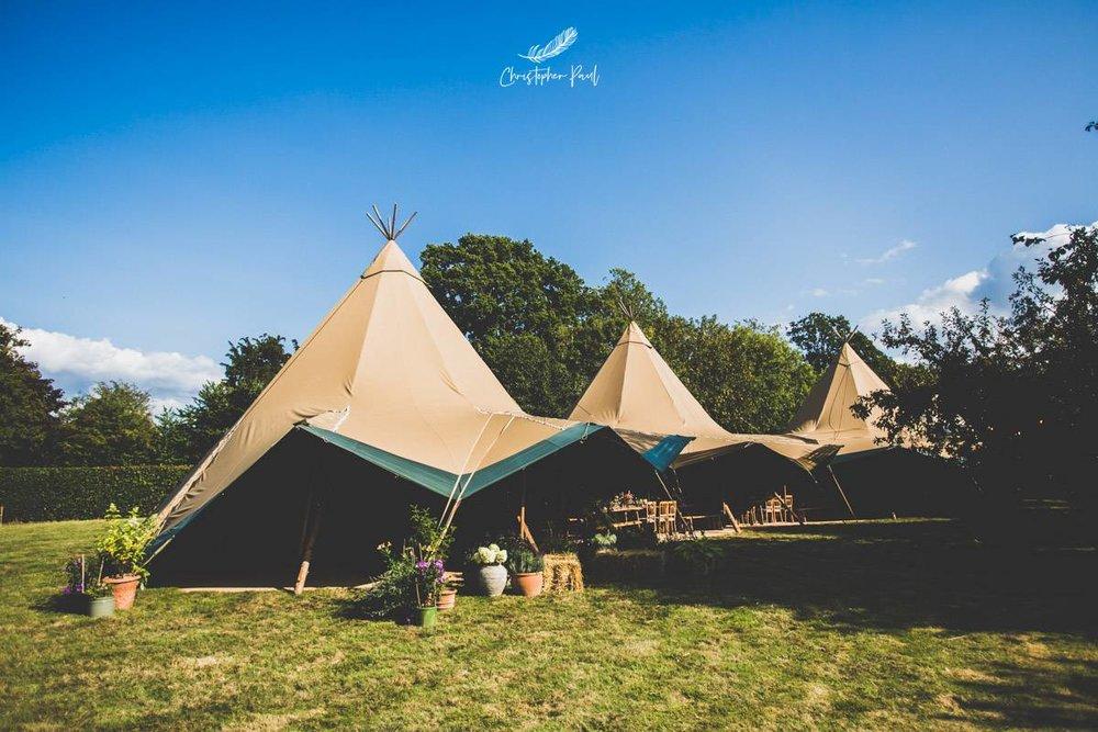 Tipi garden wedding ideas