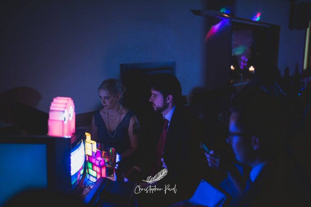 Neon wedding photos