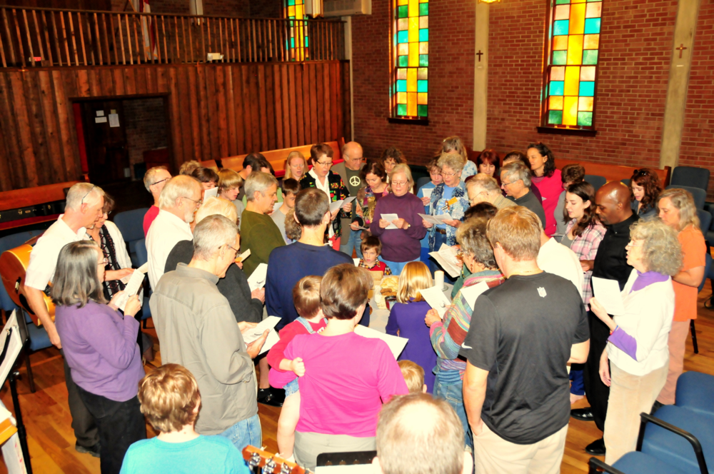 World Communion Sunday at Circle of Mercy (photo by Marc Mullinax)