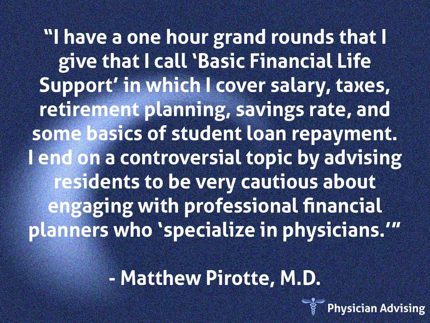 Physician Advising Quote #49