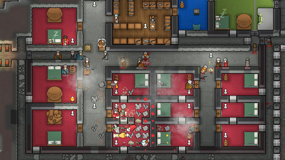 Bedroom Brawl in RimWorld