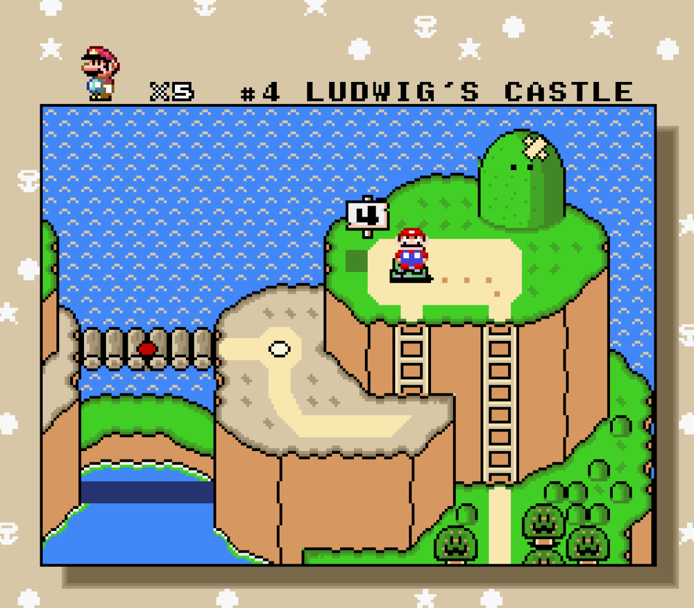 Super Mario World, all 16-bits of it.
