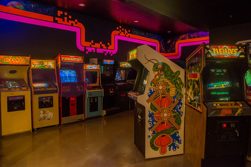 One of the arcades at National Videogame Museum in Frisco, TX
