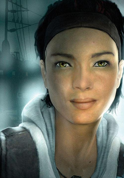 Alyx Vance, rendered by Source Engine