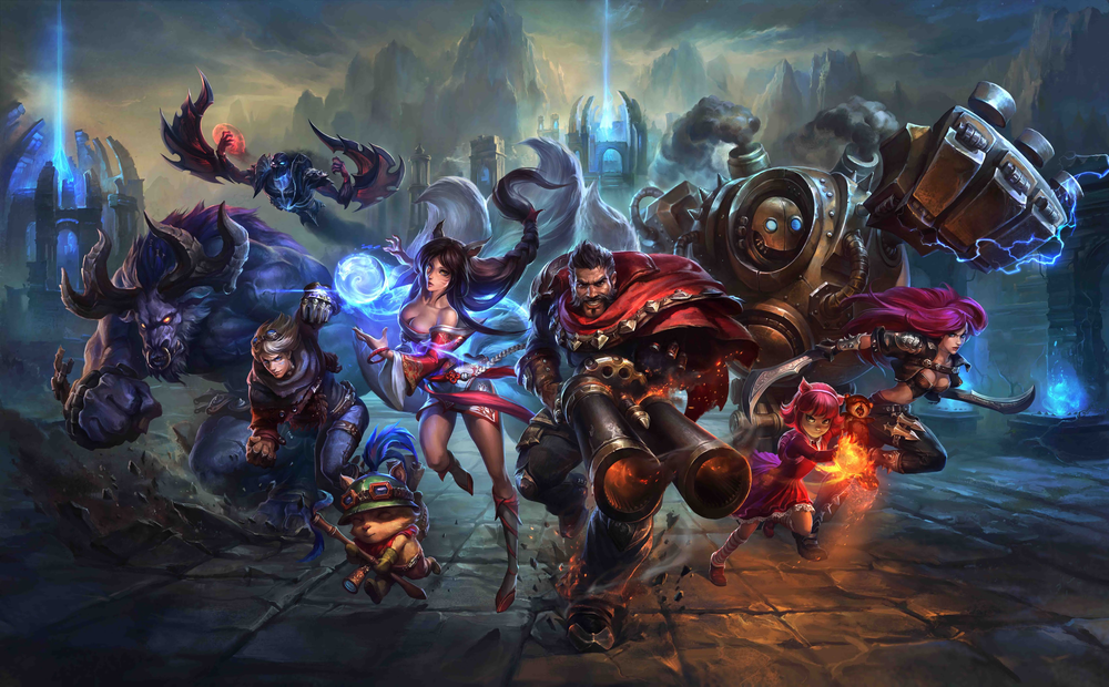 "Several characters, or ""Champions"" of League of Legends"