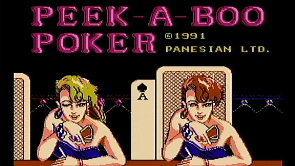 Intro screen for  Peek-a-Boo   Poker