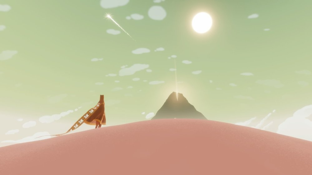 One of the various beautiful screenshots from Journey.