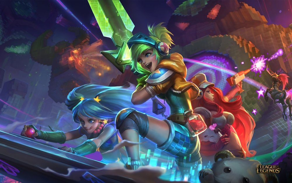 Art of League of Legends. The game itself tends to require a lot of co-operation as a 5v5 (sometimes it doesn't work out)