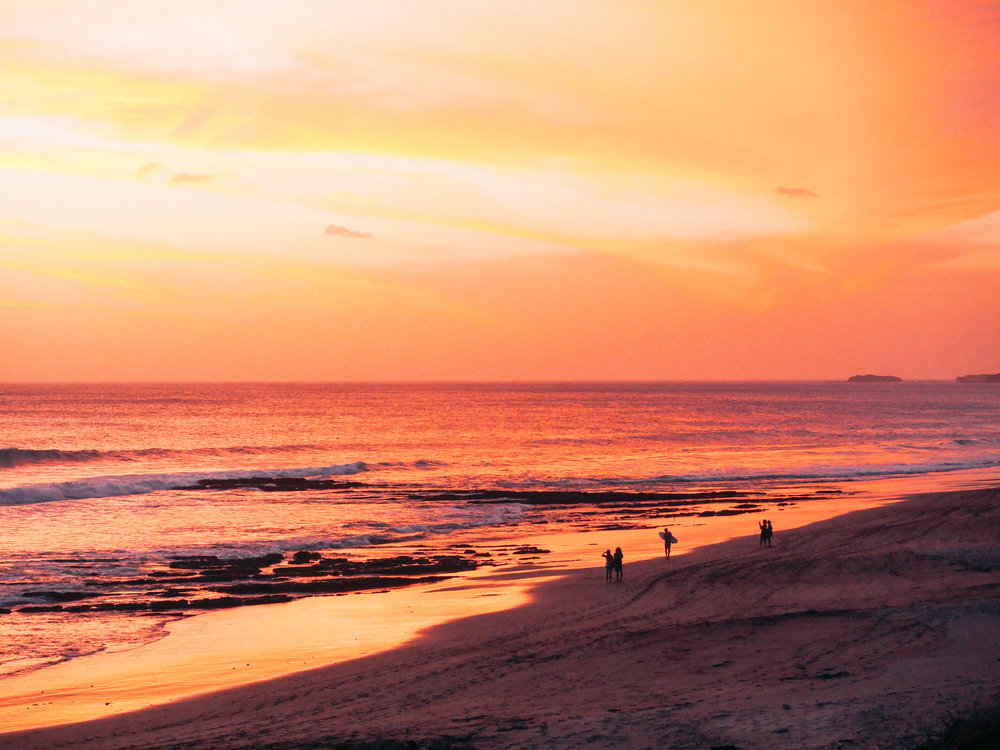 Sunset at Popoyo Beach, Nicaragua