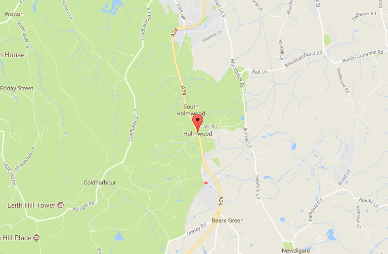 Holmwood surrey map