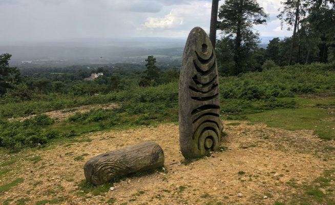 Views from the nearby Leith Hill Surrey.